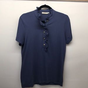 Tory Burch ruffle polo shirt Size L (175)